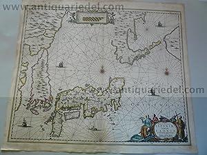 Japan/Korea, map, 1666, Janssonius J., old colours: Janssonius Jan,1588-1664