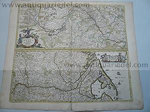 Rheinlauf, anno 1690, Danckerts Justus, altkoloriert: Danckerts Cornelis +