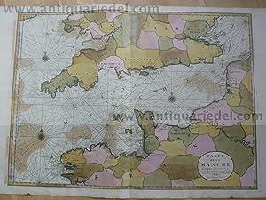 Carte de la Manche, anno 1692, Sanson-Jaillot,: Jaillot Alexis Hubert,