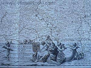 Belgii Regii, Galliae Hispaniae, anno 1690, map: Danckerts Cornelis +