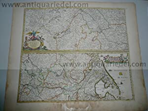 Course of the Rhin, Danckerts map anno: Danckerts Cornelis +