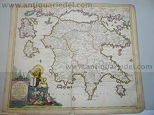 Moreae,Peloponnes,Greece,map,Danckerts,a.1690: Danckerts Cornelis +