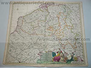 Belgii regii, NL,map,J.Danckerts,anno 1690, cont.coloured: Danckerts Cornelis +