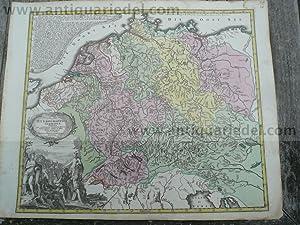 Hydrographica Germaniae, anno 1760, Flußlaufkarte, Lotter: Lotter C.T., 1717-1777