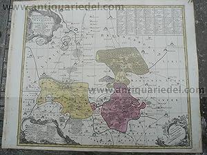 Dahme-Jüterbog, anno 1760, Landkarte, Seutter/Lotter, altkolori: Lotter C.T., 1717-1777