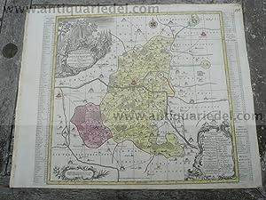 Wittenberg/Dessau, anno 1760, Landkarte Lotter T.C.: Lotter C.T., 1717-1777