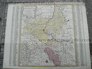 Magdeburg/Halle, anno 1760, seltene Karte, Lotter T.C.: Lotter C.T., 1717-1777