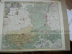 Liege anno 1760, Landkarte, Lotter T.C.: Lotter C.T., 1717-1777