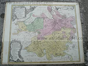 Delitzsch/Bitterfeld/Zörbig, 1760, Karte, Lotter T.C.: Lotter C.T., 1717-1777