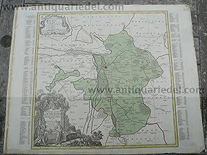 Praefectura Lipsiensis, anno 1760, Lotter T.C., altkoloriert: Lotter C.T., 1717-1777
