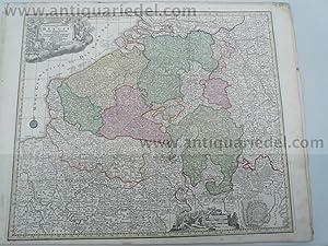 Belgien/Luxemburg, anno 1760, Lotter T.C., altkoloriert: Lotter C.T., 1717-1777
