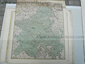 Champagne, anno 1760, Lotter T.C., map, old: Lotter C.T., 1717-1777