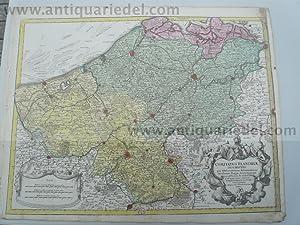 Comitatus Flandriae descriptio - de L'Isle, Gerard: Lotter C.T., 1717-1777