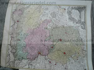 Nova Tabula Geographica ducatum Brabantiae, 1760, Lotter: Lotter C.T., 1717-1777