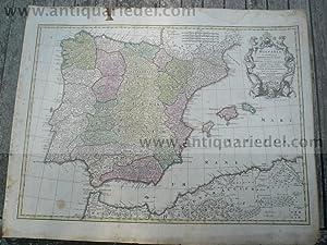 Hispania ex Archetypo, anno 1760, Lotter T.C., altkoloriert: Lotter C.T., 1717-1777