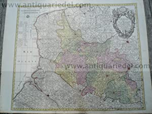 Artesia, old coloured map, Lotter T.C., anno: Lotter C.T., 1717-1777