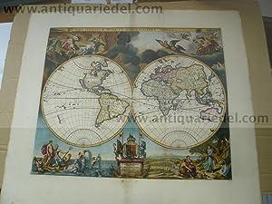Orbis Terrarum Nova Et Accuratissima Tabula, 1680,: Pitt Moses, 1639-1697