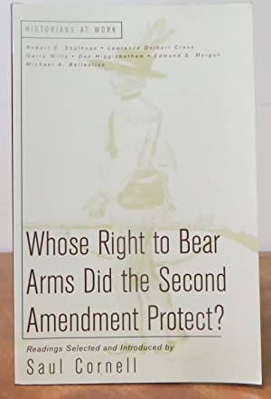 Whose Right to Bear Arms Did The Second Amendement Protect?