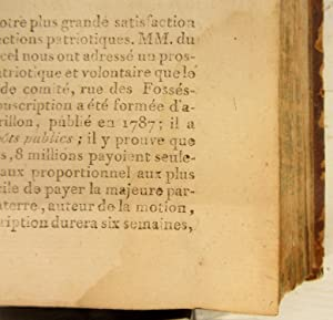 Revolutions de Paris, dediees a la nation et au district des Petits Augustins. Publiees par le ...