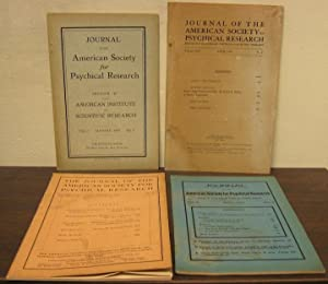 Journal of the American Society for Psychical Research, vols. 1 - 18 (1907 - 1924). About 156 ...