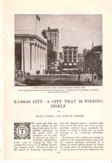Article: Kansas City - a City That is Finding Itself: O'Neill, Hugh & Steele, John M.