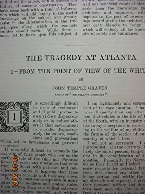 Article: Tragedy of Atlanta: Graves, John Temple & Du Bois, W. E. Burghardt