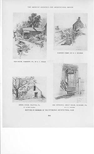Article: a Series of Sketches by Members of the Pittsburgh Architectural Club - Sketches by Edward ...