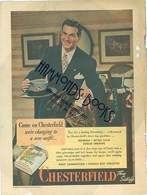 "Advertisement: Chesterfield Cigarettes - ""Come on Chesterfield: Liberty Magazine editors"