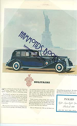 "Advertisement for Packard Solitaire - ""Packard Eight - Super Eight - Twelve - Packard 120"":..."