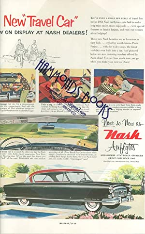 "Advertisement: Nash Automobiles - ""New Travel Car - None so New As Nash Airflytes"": Holiday..."