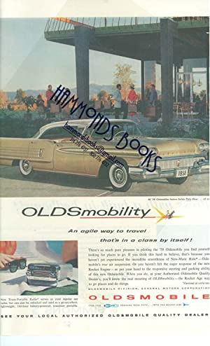 "Advertisement for 58 Oldsmobile Automobiles - ""Oldsmobility---An Agile Way to Travel Thats in a..."