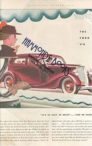 """Advertisement: the Ford V8 Automobile - """"Its so Easy to Drive.and so Economical"""": ..."""