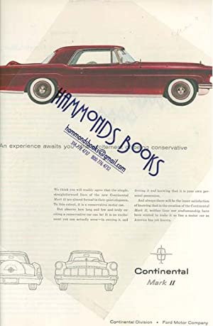 Advertisement for Lincoln Continental Mark II: Holiday Magazine editors