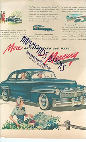 Advertisement: Mercury Automobiles: Life Magazine editors