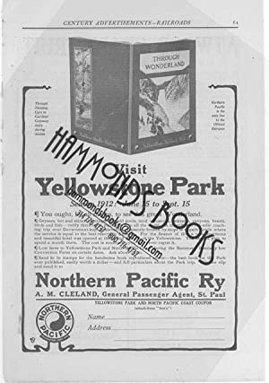 """Advertisement for Northern Pacific Railway - """"Visit Yellowstone Park"""": Century ..."""