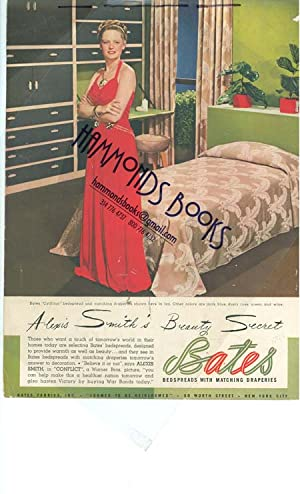 Advertisement: Alexis Smith for Bates Bedspreads -: Mademoiselle Magazine editors
