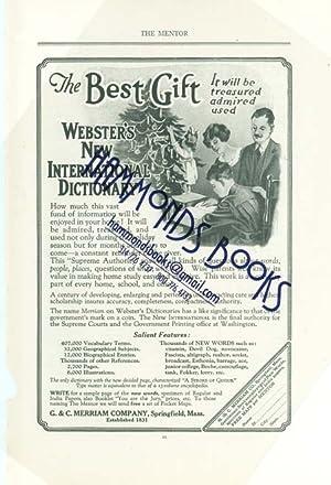Advertisement for G. & C. Merriam Company: Mentor Magazine editors