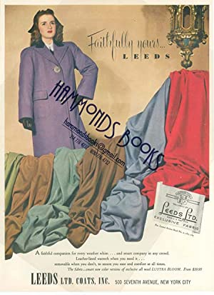 Womens Fashions Advertisement for Leeds Lt. Coats: Mademoiselle Magazine editors