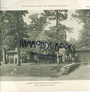 Article: House of Frank Rollins, Fieldston, NY: American Architect editors