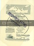 """Advertisement for thos. Cook & Son """"Cook's Mediterranean Cruise De Luxe"""" Sailing..."""