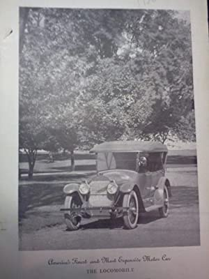 """Ad for the Locomobile """"America's Finest and: National Geographic editors"""