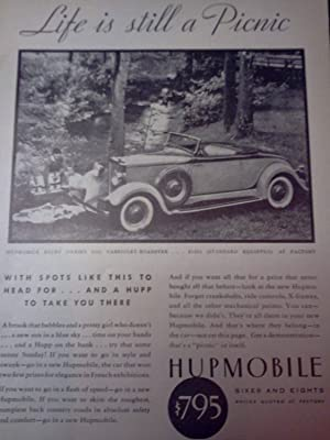 "Ad for Hupmobile Sixes and Eights ""Life: National Geographic editors"