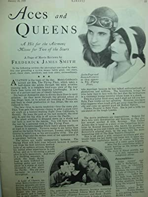Article: Aces and Queens the FLYING FLEET Starring Ramon Novarro and Anita Page: Smith, Frederick ...