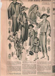 "Advertisement: 1922 Womens Fashion Ad ""Ready-To-Wear Styles for Early Summer"": Peoples ..."