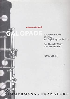 Galopade, 3rd Character Study for Oboe and: Pasculli, Antonino