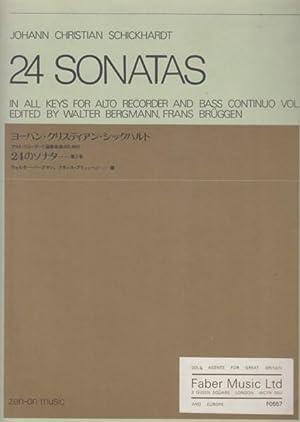 24 Sonatas in all Keys for Alto: Schickhardt, Johann Christian