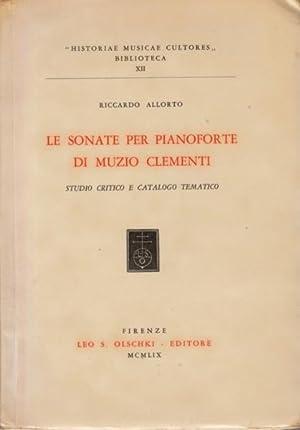 Le Sonate per Pianoforte di Muzio Clementi: Clementi] Allorto, Riccardo