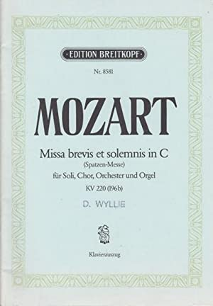 Missa Brevis et Solemnis in C, K220: Mozart, Wolfgang Amadeus