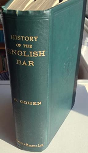 A History of the English Bar and Attornatus to 1450.
