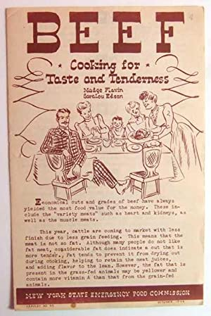 Beef: Cooking For Taste and Tenderness (Wartime WWII Informational Cook Book)
